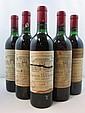 5 bouteilles 3 bts : CHÂTEAU LA LAGUNE 1966 3è GC Haut Médoc (base goulot, étiquettes fanées, tampon Nicolas)