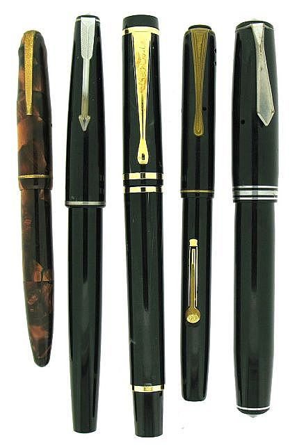LOT Cinq stylos plumes : Goldstarry