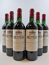 12 bouteilles CHÂTEAU LEOVILLE LAS CASES 1984 2è GC Saint Julien (11 base goulot