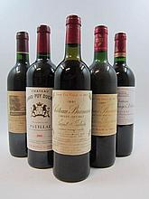 10 bouteilles 2 bts : CHÂTEAU BRANAIRE DUCRU 1981 4è GC Saint Julien (étiquettes léger tachées)