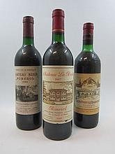 9 bouteilles 2 bts : CHÂTEAU LA POINTE 1987 Pomerol (base goulot, étiquettes fanées)