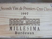 12 bouteilles CAISSE PANACHEE MILLESIMA : Les Seconds Vins des Premiers Crus Classés: