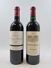 12 bouteilles 6 bts : CHÂTEAU BELLEVUE 2000 GC Saint Emilion