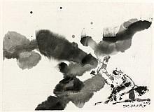 ZAO WOU- KI (1920 - 2013) SANS TITRE - 2003 Encre de Chine sur papier