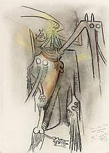 Wifredo LAM (1902 - 1982) SANS TITRE - Circa 1972 Pastel sur papier