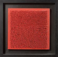 Bernard AUBERTIN (Né en 1934) TABLEAU CLOUS - 1970 Clous et panneau peints