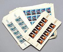¤ Principauté de Monaco - Lot de timbres-poste des années récentes, avant l'euro, en feuilles complètes