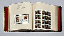 ¤ Pays d'expression française - Album contenant des timbre-poste non dentelés et des épreuves de luxe de timbres représentant des tabl