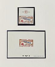¤ Exposition Philatélique Internationale ''Philatec'', 1964 - Album souvenir contenant les différents timbres-poste et les blocs ém