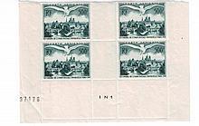 France - Semi-modernes - Ensemble de valeurs en blocs de quatre timbres. Neufs. **