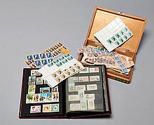 Espagne - Ensemble de timbres-poste neufs des années 1940 à 1960. Un classeur et une boîte.