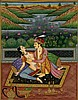 Vintage Old Indian Miniature Kamasutra Mughal