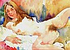 Ewa Ladwiczuk, original erotic watercolor, signed