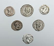 Lot of 6 Roman Silver Coins