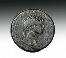 Scarce Roman Trajan Dupondius Coin