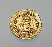 Eastern Roman Empire Gold Coin - Theodosius II