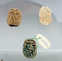 Set of Three Egyptian Scarabs - Ex Mitry