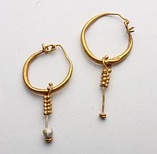 Pr Roman Gold Earrings - Grape Clusters