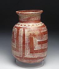 Unusual Michoacan Pottery Jar