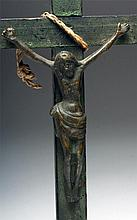 Mexican Wood Cross and Bronze Christ