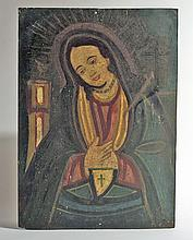 Antique Mexican Retablo - Mater Dolorosa
