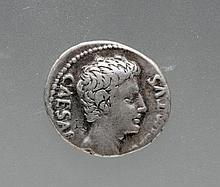 Roman Augustus Silver Denarius - Rare and Important!
