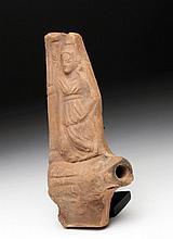 Alexandrian (Egypt) Terracotta Oil Lamp
