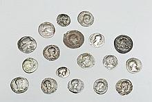 Lot of 18 Ancient Silver Greek and Roman Coins, ex-Barakat