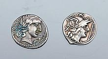 Two Early Roman Republic Silver Coins