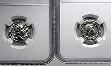 Two Roman Empire Denarius Coins