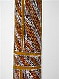 AN AUTHENTIC VINTAGE ABORIGINAL STORY POLE FROM ARNHEM LAND