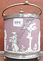A Wedgwood Jasperware biscuit barrel