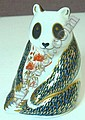 A Royal Crown Derby 'panda' paperweight, second, with stopper