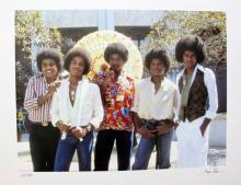The Jackson Five Hand Signed Limited Edition Photograph By Gregg Cobarr