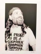 Willie Nelson Hand Signed Limited Edition Photograph By Gregg Cobarr