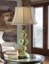 Civita Crackled Green Table Lamp