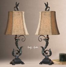 Caperana Black Buffet Lamps Set/2