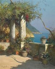 Terrace in Positano by Giovanni DiGuida