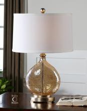 Arielli Amber Glass Lamp