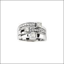 Created Moissanite & Diamond Ring