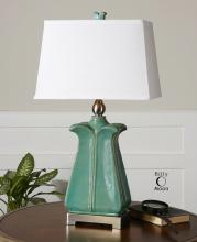 Calciano Teal Table Lamp