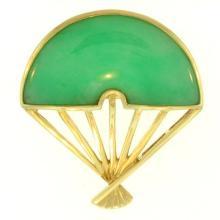 Natural Green Jadeite Pin