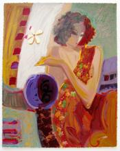 Sabzi Exotic Flower Hand Signed Limited Ed. Giclee On Paper