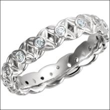 Sculptural Engagement Ring Base Or Eternity Band