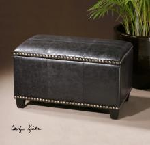 Beckham Small Black Storage Bench
