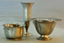 Lot (3) Pewter by Poole