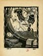 GUSTAVE BAUMANN - Original woodcut