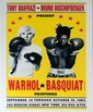 JEAN-MICHEL BASQUIAT & ANDY WARHOL - Color offset lithograph poster