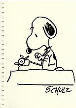 CHARLES SCHULZ - Pen and ink drawing on paper