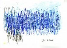 JOAN MITCHELL - Oil pastel and watercolor drawing on paper